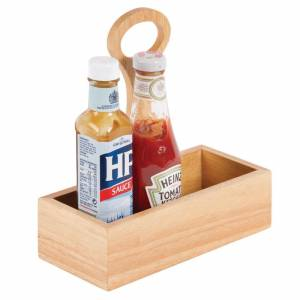 Olympia Wooden Condiment Bucket with Handle