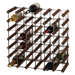 Nisbets Wine Rack Dark Wood 42 Bottle