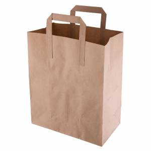 Fiesta Green Recycled Brown Paper Carrier Bags Medium (Pack of 250)