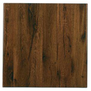 Werzalit plus Werzalit Pre-drilled Square Table Top Antique Oak 800mm