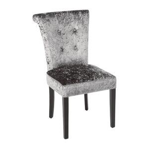 Bolero Olive Grey Crushed Velvet Dining Chair (Pack of 2)