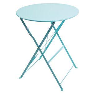 Bolero Seaside Blue Pavement Style Steel Table 595mm
