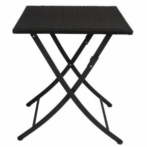 Bolero Square PE Wicker Folding Table 600mm