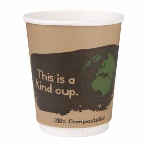 Fiesta Green Compostable Hot Cups Double Wall 227ml / 8oz (Pack of 25)