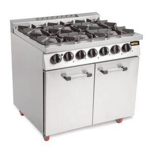 Buffalo 6 Burner Oven Range with Castors