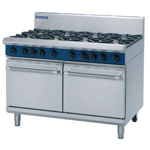 Blue Seal Evolution 8 Burner Double Static Oven Nat Gas 1200mm G528D/N