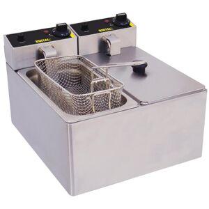 Buffalo Twin Tank Twin Basket Countertop Electric Fryer 2x2kW