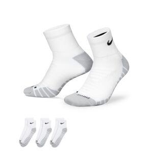 Nike Everyday Max Cushioned Training Ankle Socks (3 Pairs) - White  - White - Size: Large