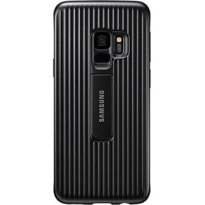 Samsung Protective Cover Case with Flip-Out Stand for Galaxy S9 - Black