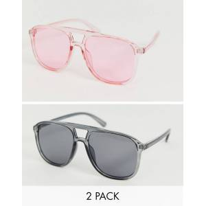 7X SVNX 2 pack tinted sunglasses-Multi