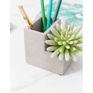 Kikkerland planter & pen pot-Grey