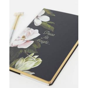 Ted Baker A5 notebook-Black  - male - Black - Size: No Size