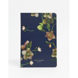 Ted Baker A5 notebook in flower print-Black