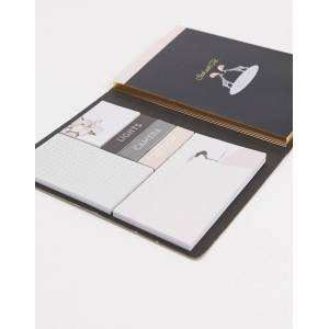 Ted Baker A5 notebook with sticky notes-Black  - unisex - Black - Size: No Size