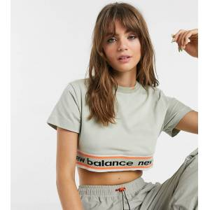 New Balance Utility Pack cropped t-shirt in beige exclusive at ASOS  - female - Beige - Size: Small