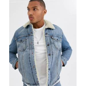 Levi's Sherpa trucker jacket in blue