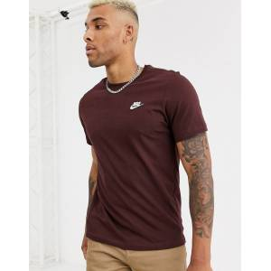Nike Club t-shirt in brown