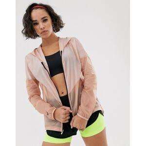 Nike Running hooded jacket in rose gold-Pink