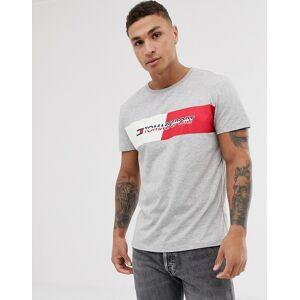 Tommy Sport chest stripe logo t-shirt in grey