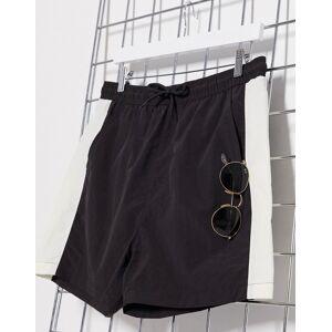 French Connection retro stripe swim shorts-Black  - male - Black - Size: Medium