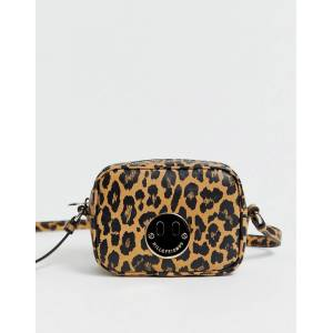 Hill & Friends Hill and Friends Happy Mini leather camera bag in leopard-Multi