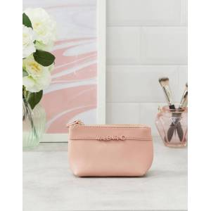 Valentino by Mario Valentino pale pink mini cosmetic bag