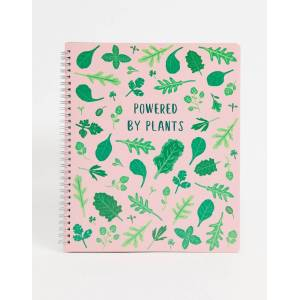 Sass & Belle powered by plants notebook-Pink  - Pink - Size: No Size