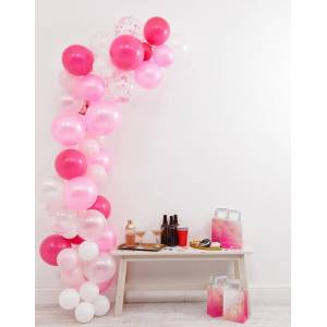 Ginger Ray pink balloon arch-No Colour  - female - No Colour - Size: No Size