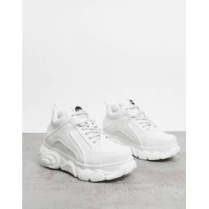 Buffalo Corin low platform trainers in white
