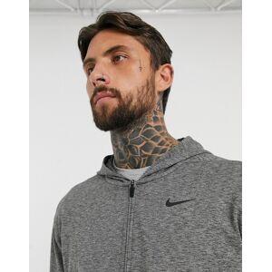 Nike Yoga zip-up hoodie in dark grey