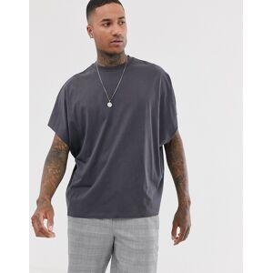 ASOS DESIGN extreme oversized t-shirt in washed black-Grey