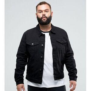 ASOS DESIGN Plus skinny denim jacket in black