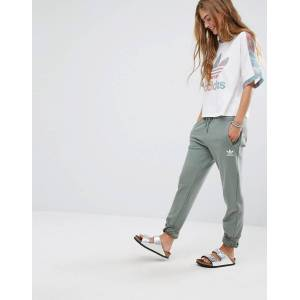 adidas Originals Pastel Camo Sweat Pants In Khaki-Green
