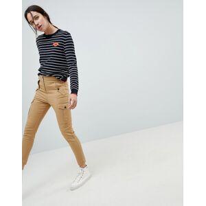 ASOS DESIGN skinny utility trousers-Brown