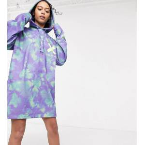 COLLUSION all over print double layer hoodie dress-Multi  - female - Multi - Size: 12