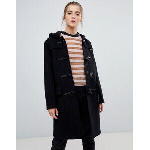 Gloverall Original long duffle coat in wool blend-Black