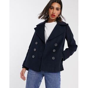 Miss Selfridge double breasted pea coat in navy
