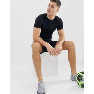 Nike Football academy t-shirt in triple black  - male - Black - Size: Large