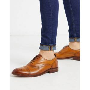 Base london cast brogues in tan leather  - male - Tan - Size: 11