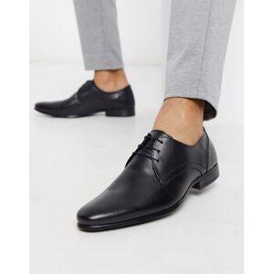 Burton Menswear leather derby shoe in black  - male - Black - Size: 9