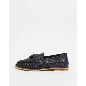 MOSS BROS Moss London woven loafer in black  - male - Black - Size: 6