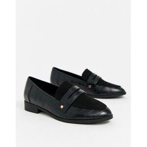 London Rebel loafer in black  - female - Black - Size: 4