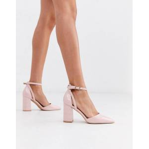 RAID Katy heeled shoes in pink croc  - female - Pink - Size: 7