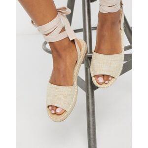 Truffle Collection tie leg espadrille flat sandals-Multi  - female - Multi - Size: 3