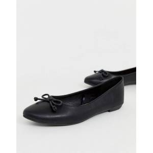 Truffle Collection wide fit easy ballet flats-Black  - female - Black - Size: 5