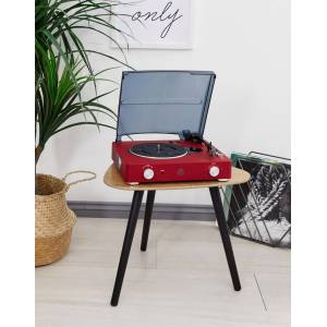 GPO Retro Stylo II turntable in red-Multi