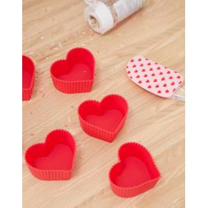 Mimo silicone heart baking set-Multi