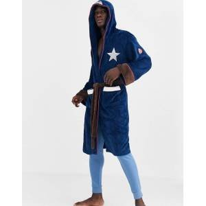 Robes Captain America Dressing Gown-Navy