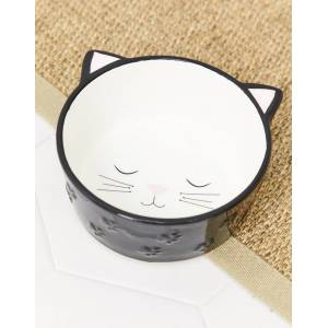New Look cat bowl in white
