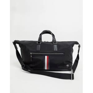 Tommy Hilfiger clean nylon duffle bag with stripe in black  - male - Black - Size: No Size